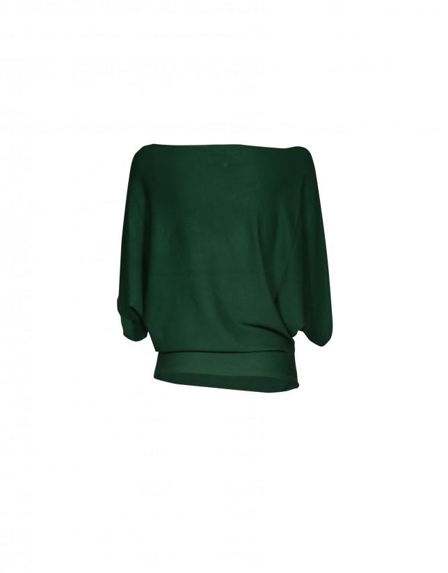 Jersey cuello barco verde