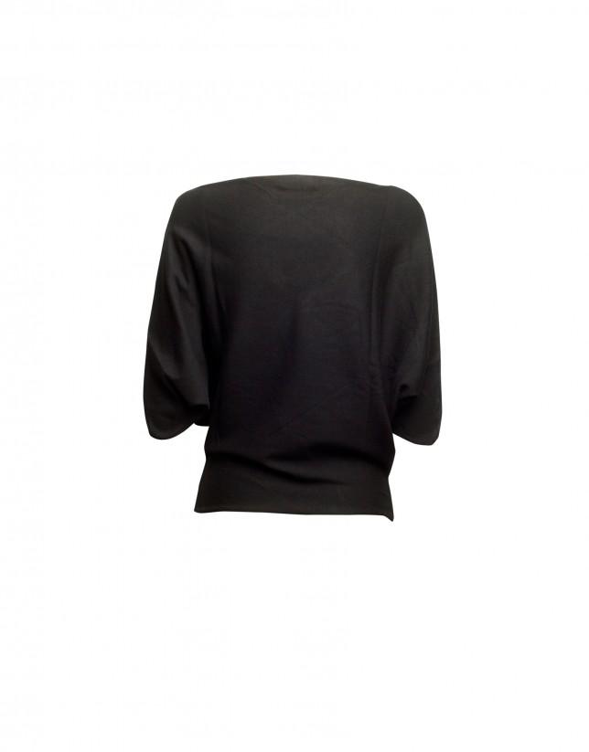 Jersey cuello barco negro