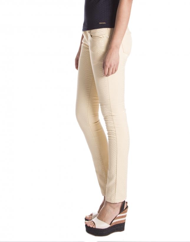Yellow stretch pants