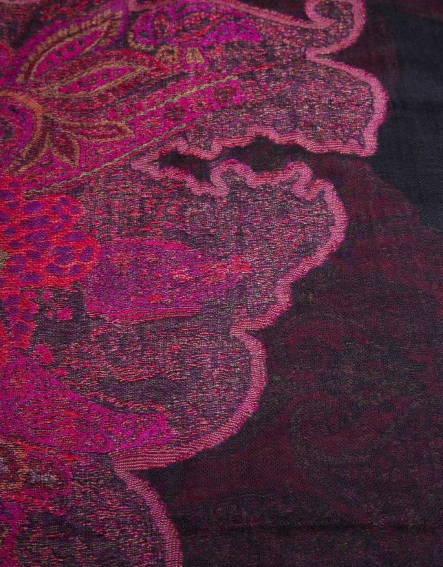 Foulard jacquard estampado cachemir