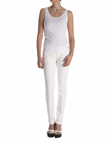 Pantalón strech blanco roto
