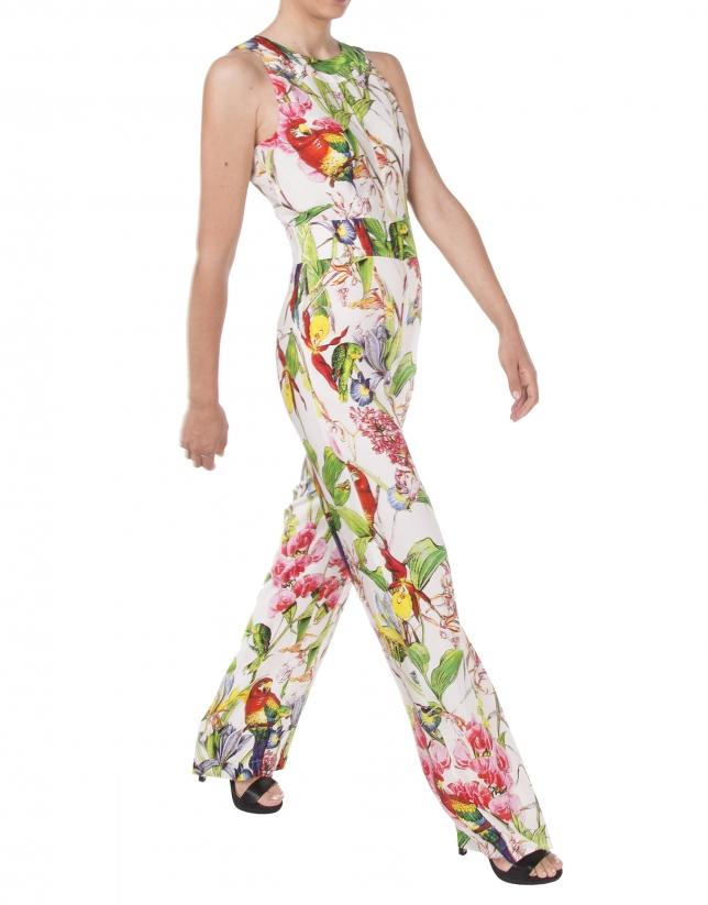 Parrot print jumpsuit