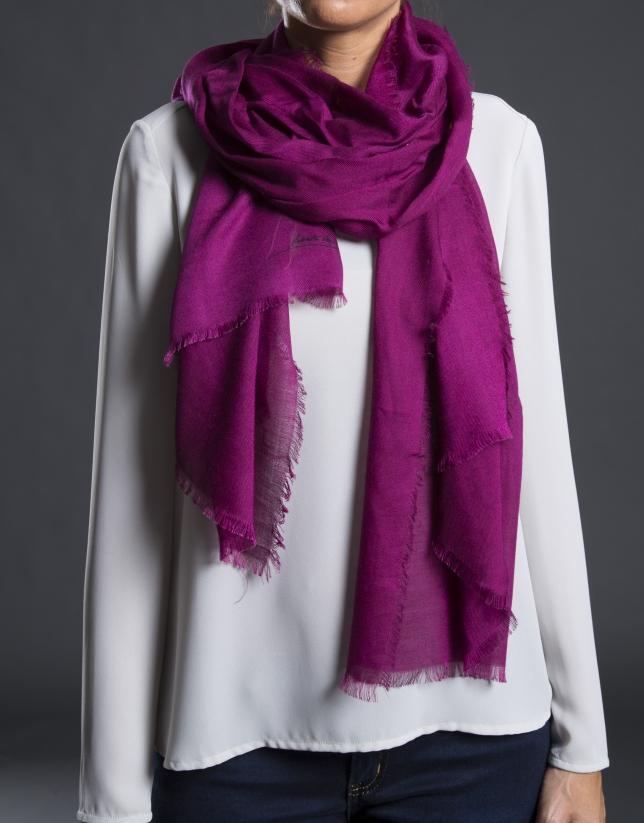 Plain aubergine foulard