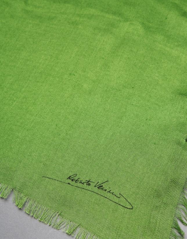 Plain green foulard