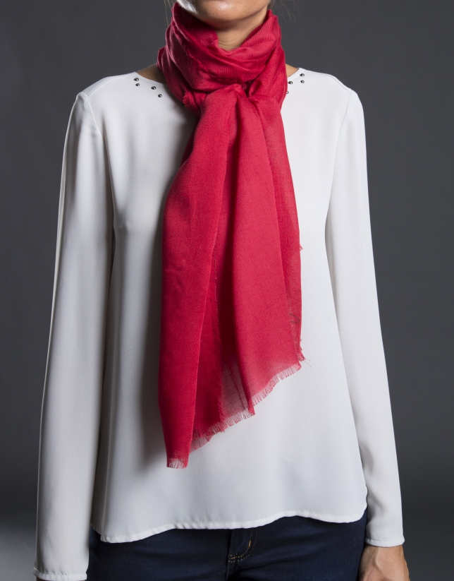 Plain red foulard