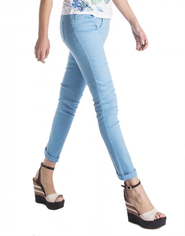 Pantalón recto azul