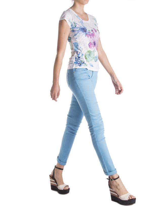Pantalon droit bleu