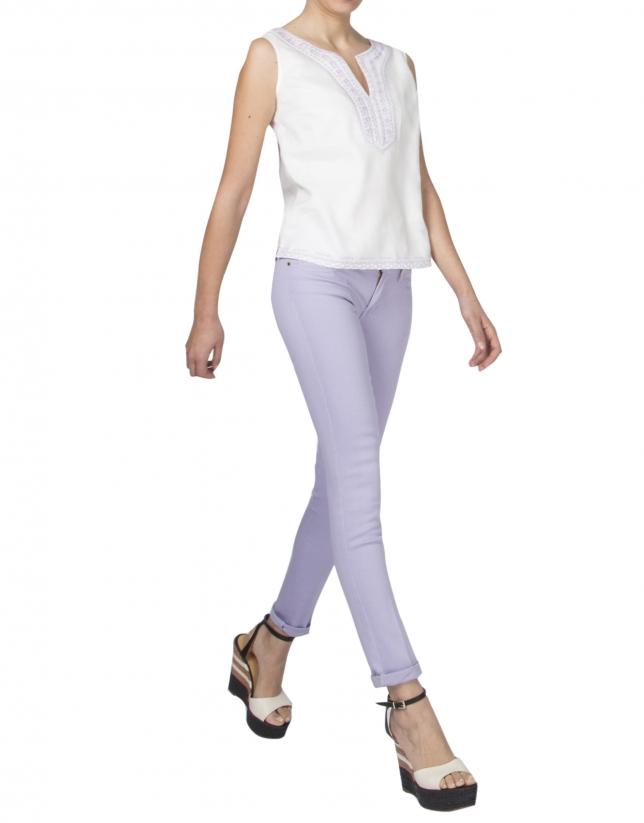 Lavender straight pants