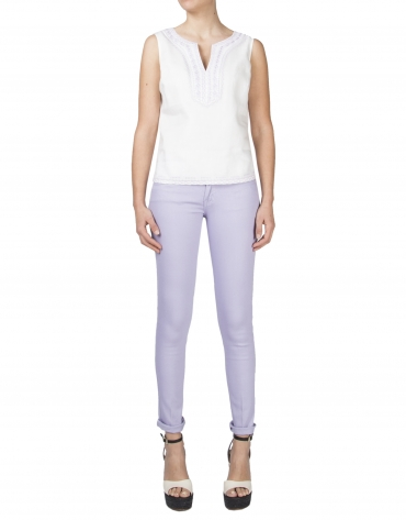 Lavender straight pants