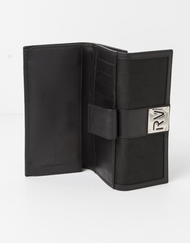 Portefeuille jacquard RV noire