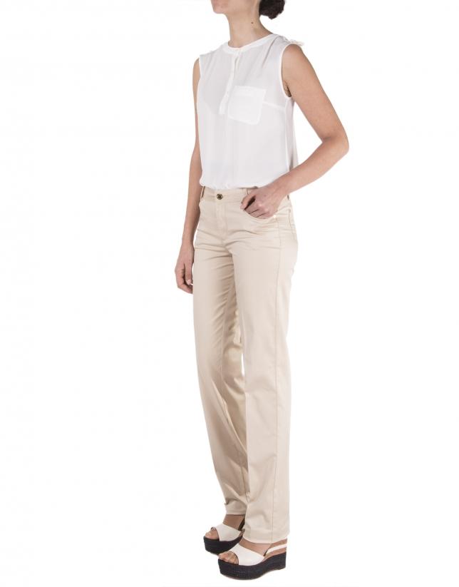 Pantalon droit marron