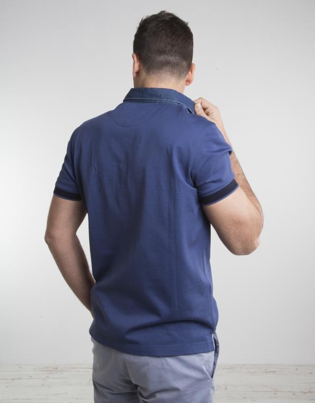 Polo marino cuello jean