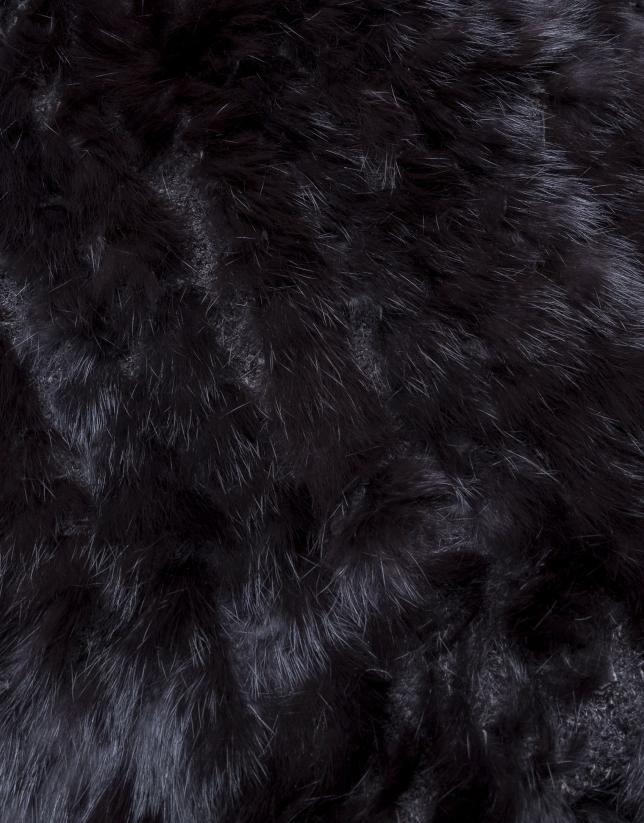 Dark brown rabbit hair stole
