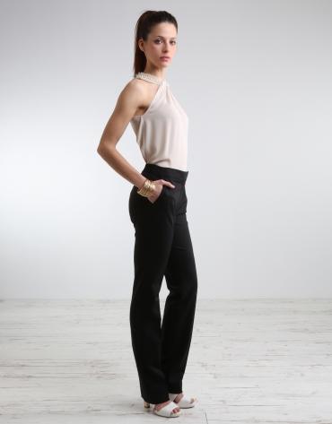 Pantalón negro con pasamanería