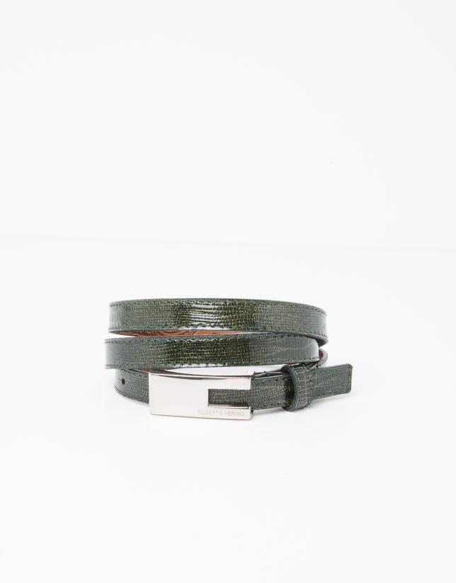 Cinturón piel verde