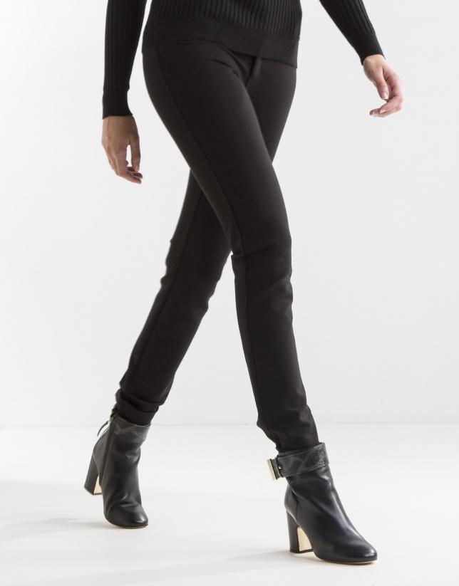 Pantalon noir élastique