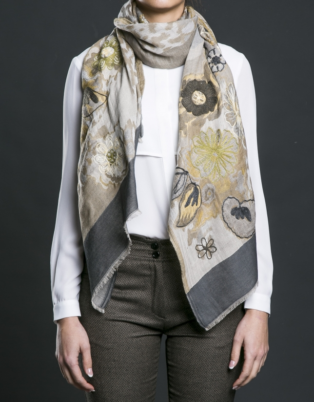 Foulard estampado print animal
