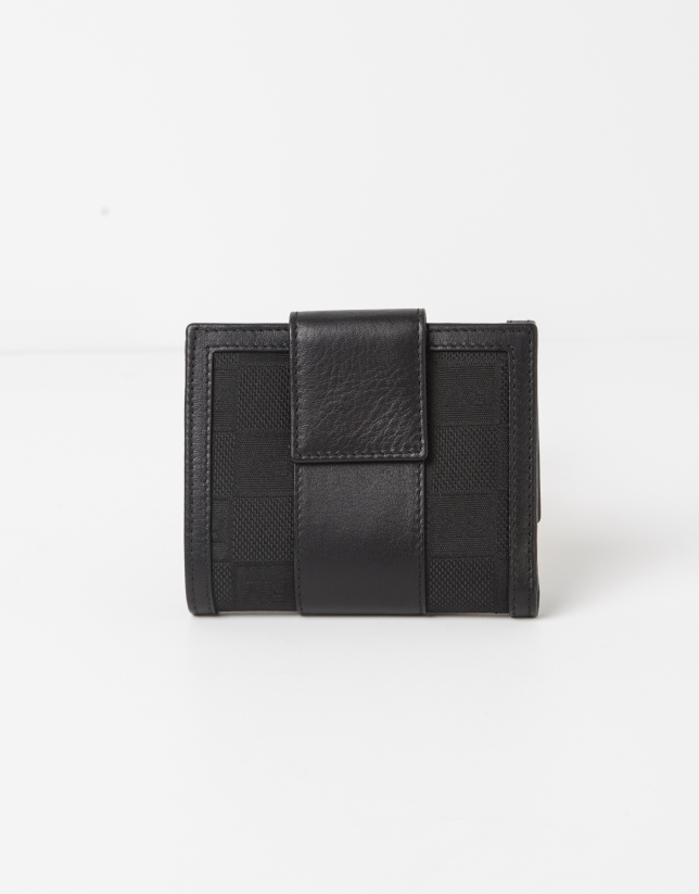 Black jaquard RV small billfold