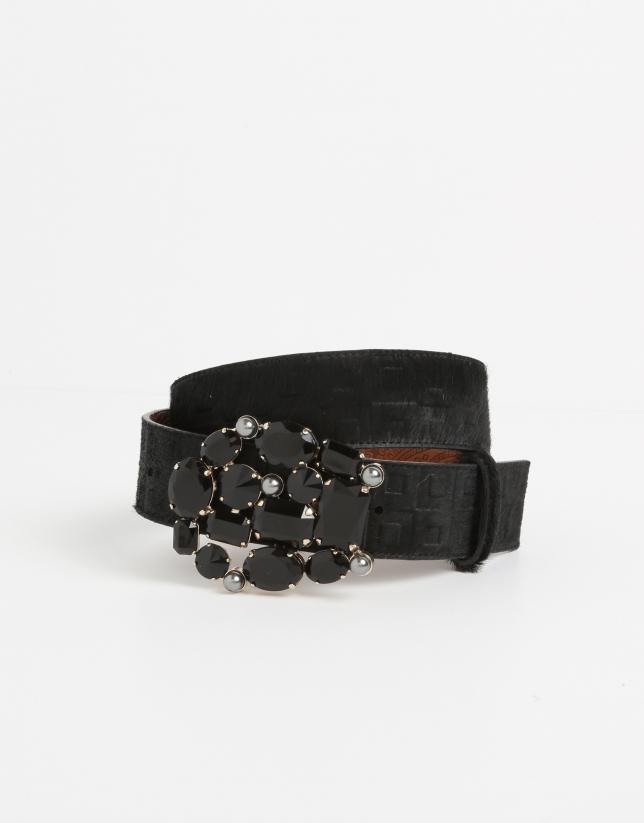 Black fur belt