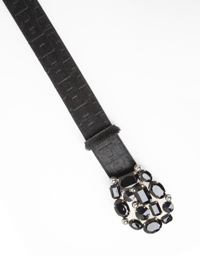 Cinturón pelo negro