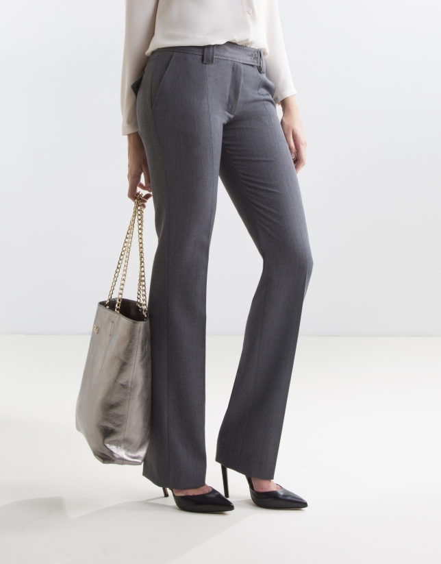 Grey pants with darts