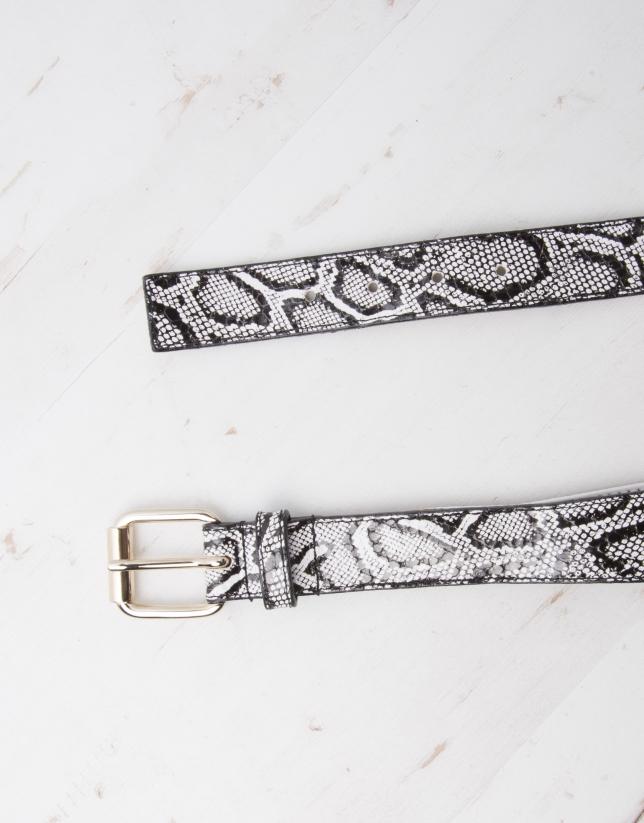 Black snakeskin belt