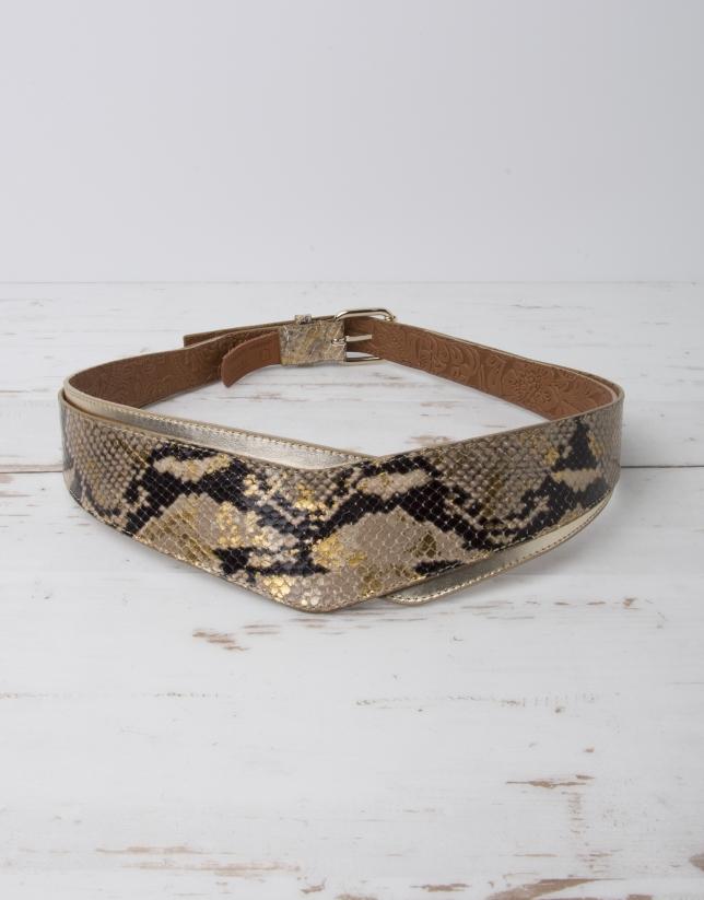 Cinturón serpiente dorado