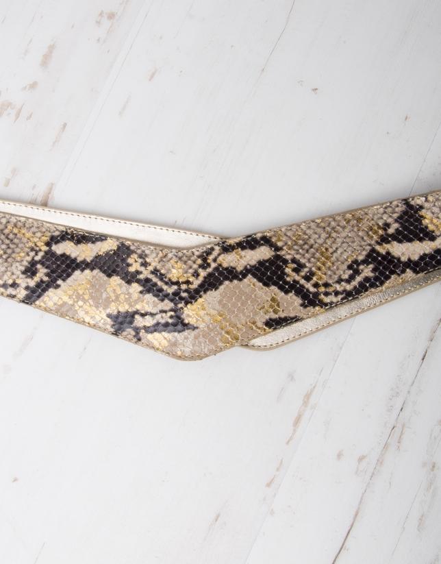 Ceinture serpent doré