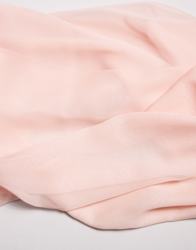 Pale pink silk bolero sweater