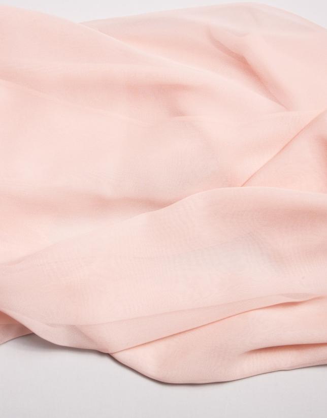 Pale pink silk bolero sweater