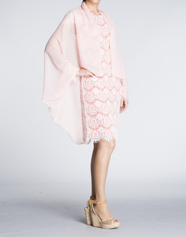 Cubrehombros seda rosa palo