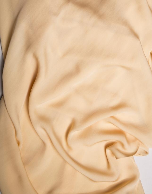 Vanilla silk bolero sweater