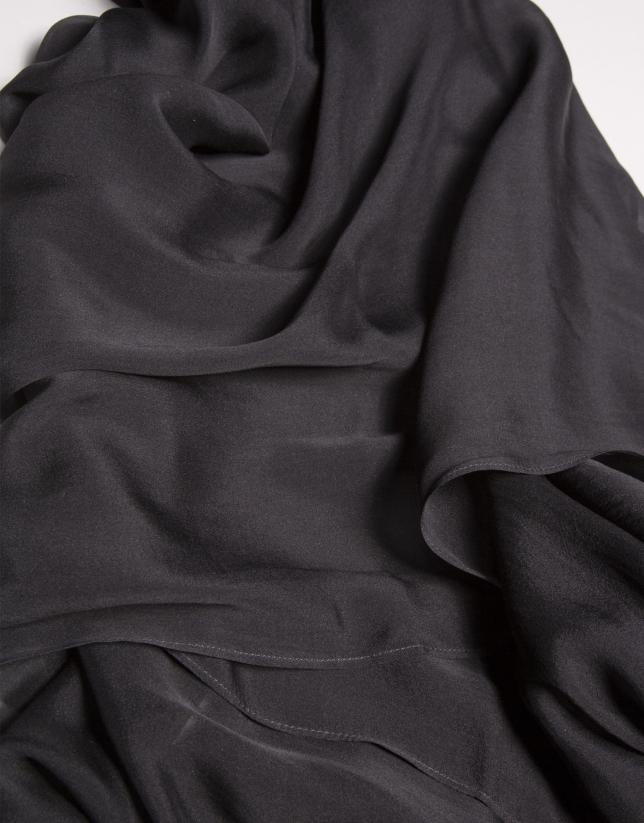 Black silk bolero sweater