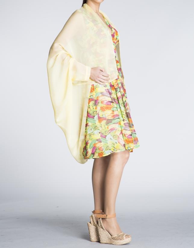 Cubrehombros seda amarillo