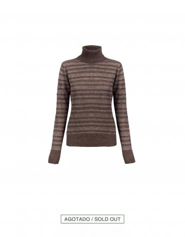Jersey marrón a rayas