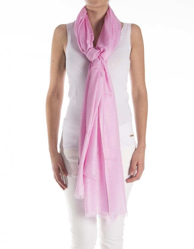 Foulard liso rosa