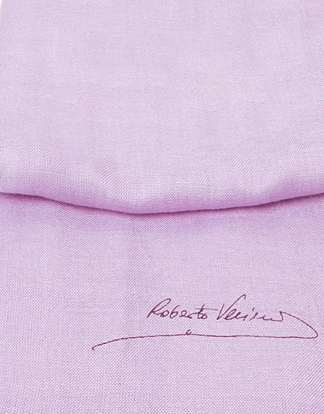 Plain pink scarf