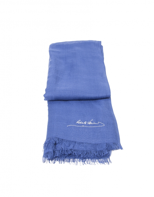 Plain dark blue scarf