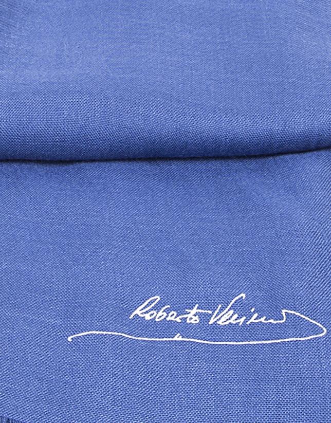 Plain dark blue scarf