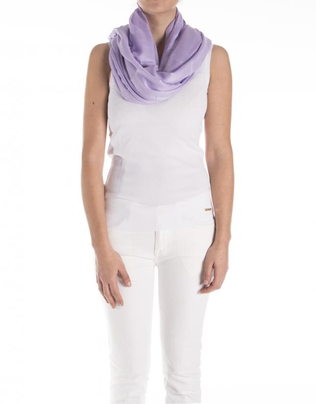 Plain lavender scarf
