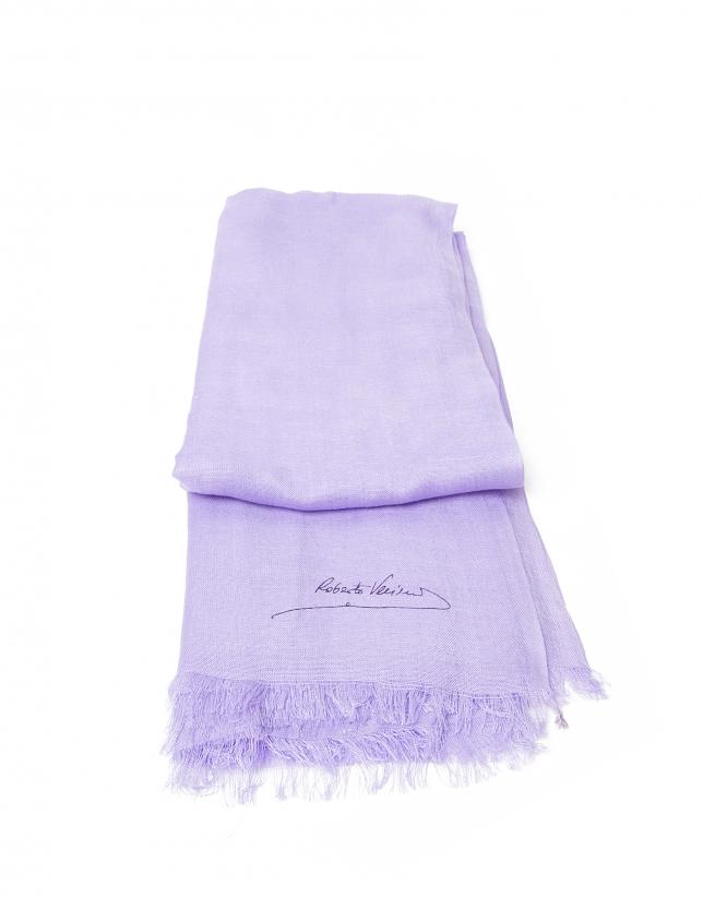 Foulard liso lila