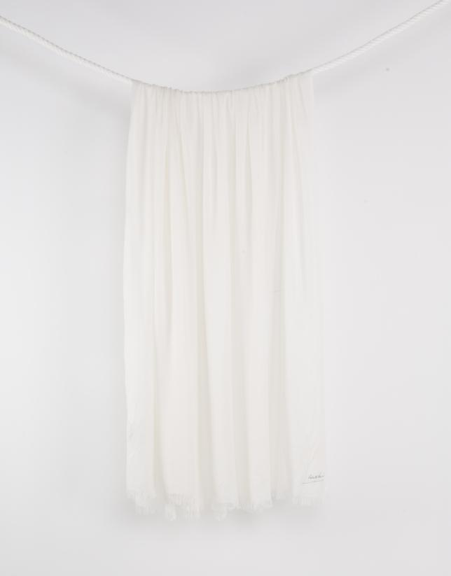 Foulard liso blanco
