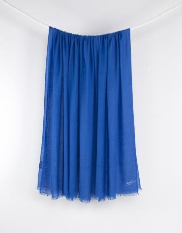 Plain blue scarf