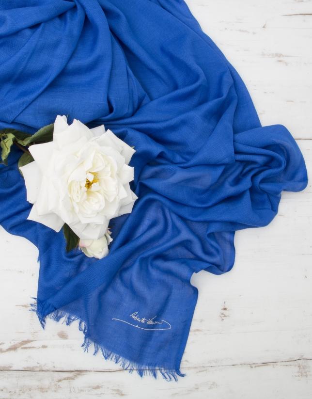 Foulard liso azul