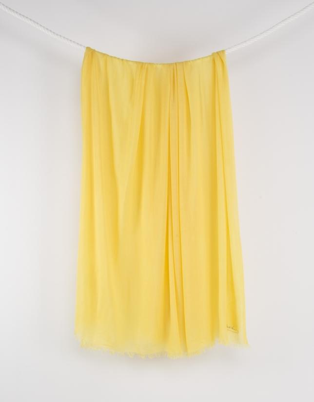 Foulard liso amarillo