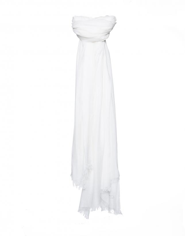 Plain beige scarf