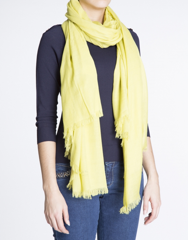 Plain yellow scarf