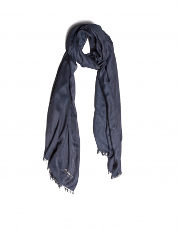 Plain navy blue scarf