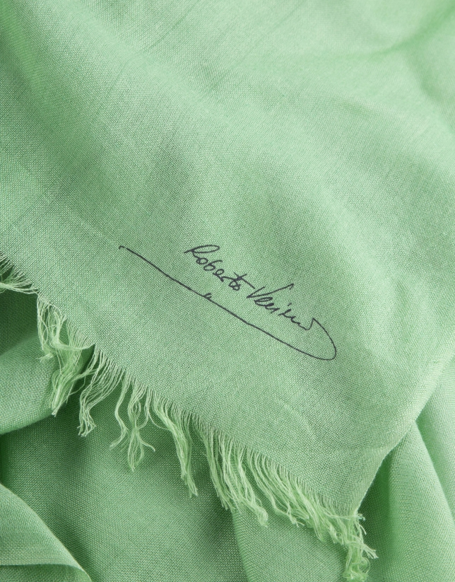 Foulard liso verde