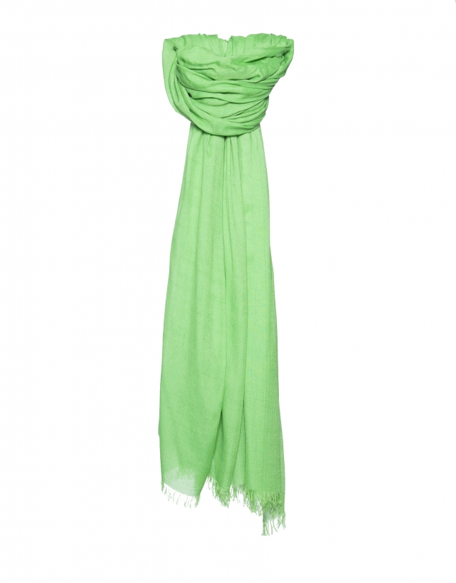 Plain green scarf